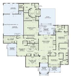 One of my favorite house plans! I LOVE everything about this . I would change the dining room into a study with built in book shelves for all our medical books, med journals, and our collection of novels. - LJKoike