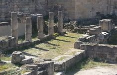 Ancient Kamiros In Rhodes Is One Of The Original Three Ancient Cities (And The Smallest) To Be Developed On The Island. Lindos And Ialyssos Were The Other Two. City O, Rhodes, Columns, Maine, Greece, Island, Greece Country, Islands
