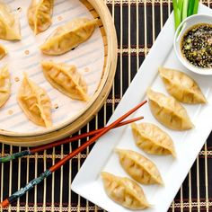 A delicious fragrant lemongrass chicken filled dumpling/pot-sticker you won't be able to stop eating!