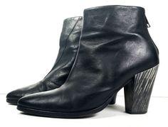 $430 ALLSAINTS BOOTS 40 Black Leather Ankle Boots *PRIMO* SIZE 9.5 M #ALLSAINTS #AnkleBoots
