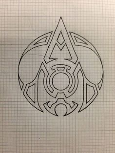 assassin's creed tattoo | Outline Assassins Creed Logo Tattoo Design