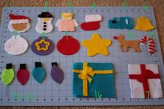 Large 20 Piece Children's Felt Christmas Tree with by craftEdaze
