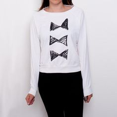 Silly, yet fancy ;)  Bowties Pullover Raglan Women's now featured on Fab.