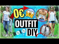 0€ UPCYCLE OUTFIT DIY |HL Schuhe, Distressed Jeans... - YouTube