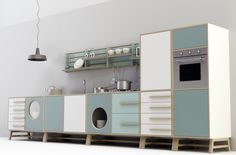 Cucina free standing_ happy Kitchen by Joe Velluto for DESIGNMOOD