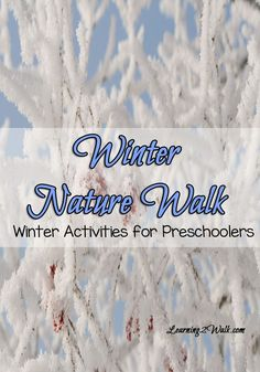 Its hard doing fun preschool activities in winter but this activity may be just what you need. Bundle up and step outside and have a winter nature walk- I am sure this is a winter preschool activity your kids will love.