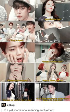 Two of my fave groups ❤️❤️❤️<-- Is it just me that sorta kinda ships these groups????