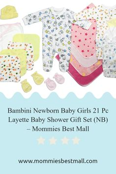 Good to be prepared buy this Newborn 21pc Layette set at Mommies best Mall Baby Layette, Baby Girl Newborn, Preparing For Baby, Welcome Gifts, Baby Arrival, Baby Products, Baby Shower Gifts, Mall, Parenting