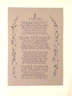 If by Rudyard Kipling poem hand written typography by TypeODesign