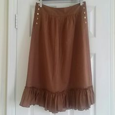 """🔥Hot Sale🔥 J. Crew brown skirt size 8 new Cotton and linen, length25"""" waist 30"""" new without tags J. Crew Skirts Maxi"""