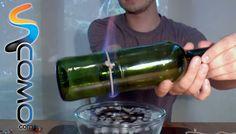 TECNICA.-                              VIDEO:                                                Cómo cortar cristal con hilo y fuego