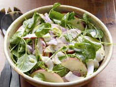 Apple-and-Ham Salad : This light and refreshing salad gets a boost of flavor from thinly sliced apples, Black Forest ham and a creamy vinaigrette.