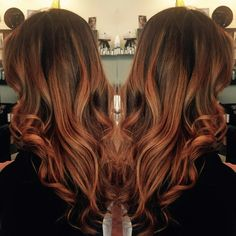 Beautifully blended ombre by Lindsay #linzphair #ombre #wellacolor #softcurls #smoothinglusterizer