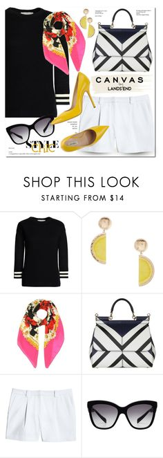 """""""Paint Your Look With Canvas by Lands' End: Contest Entry"""" by monica-dick ❤ liked on Polyvore featuring Lands' End, Canvas by Lands' End, MANGO, Dolce&Gabbana and Ninalilou"""
