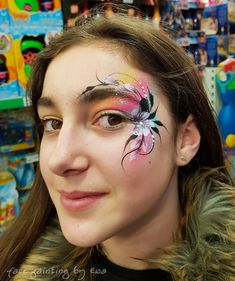 Face Painting Flowers, Eye Face Painting, Adult Face Painting, Face Painting Designs, Body Painting, Face Paintings, Makeup Art, Face Makeup, Child Face