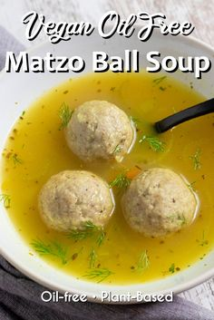 Whole Food Recipes, Soup Recipes, Vegan Recipes, Fall Recipes, Vegan Food, Holiday Recipes, Matzo Ball Soup Recipe, Vegan Egg Replacement, Matzoball Soup