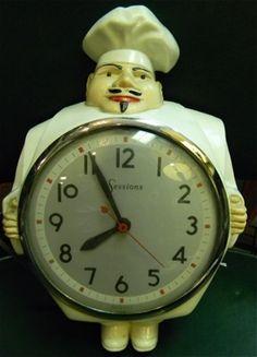 Vintage chef clock