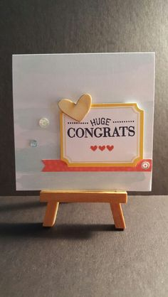 HUGE CONGRATS www.etsy.com/shop/jengirlsdesigns #etsy #jengirlsdesigns #handmade #card #handmadecard #etsyshop #etsystore #etsyseller #etsysellers #etsyusa #etsyfinds #greetingcards #papercrafts #papercrafting #cardmaking #congratulations #congrats