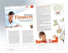 Magazine Layout designed by Hiba Jaroudi Issue Magazine, Magazine Spreads, Magazine Page Design, Finance Jobs, Finance Organization, Publication Design, Data Visualization, Book Design, Magazines
