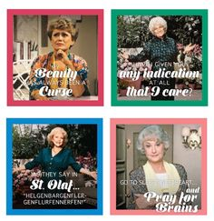 The Golden Girls Coasters by Vandor Golden Girls, Go To Sleep, You And I, Pray, Coasters, Baseball Cards, Sayings, Funny, You And Me