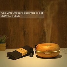 Amazon.com: InnoGear Aromatherapy Essential Oil Diffuser Ultrasonic Cool Mist Diffusers with 7 Color LED Lights Waterless Auto Shut-off, Wood Grain,