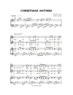 A Children's Christmas Anthem for choirs both young and old