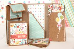 beedee-Let's party! Mini Scrapbook Albums, Mini Albums, Minis, Journals, Paradise, Artsy, Boxes, Scrapbooking, Paper Crafts