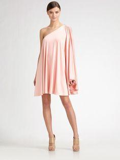 One-shoulder Caftan Dress - Lyst