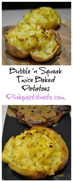 Twice Baked Bubble and Squeak Potatoes from pinkpostitnote.com