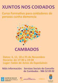 CORES DE CAMBADOS: CURSO FORMATIVO PARA COIDADORES DE PERSOAS CON DEM...