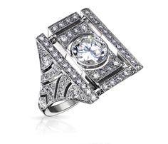 Bague Agnes  #galeriedenface : or et diamant #bague #orblanc #diamants #bijoux #luxe #valeriedanenberg