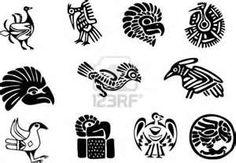Aztec Man Mexican Or Maya Motifs Tattoo