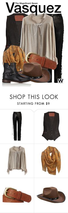 """""""The Magnificent Seven"""" by wearwhatyouwatch ❤ liked on Polyvore featuring Magda Butrym, Rockins, Chicwish, Alexander McQueen, Rip Curl, rag & bone, wearwhatyouwatch and film"""