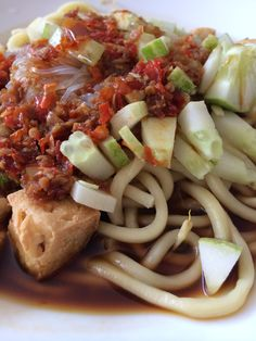 Rujak Mie ... Palembang traditional food ... The taste is a lil but sour and spicy