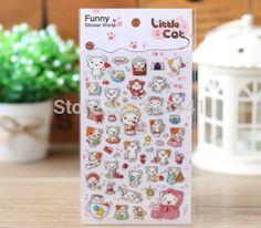 New Creative 3D KT-Cat design DIY Multifunction Epoxy sticker/Funny note label/ children stickers / retail #Affiliate
