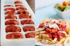Do you have extra pasta sauce left? Freeze it and use it another time.