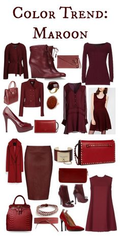 Mad for Maroon: Fashion Color Trend