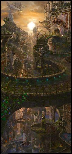 雲霞交翼 (UnkaKouyoku), Ucchiey | Fantasy: Castles, Ruins & City | Pinter…