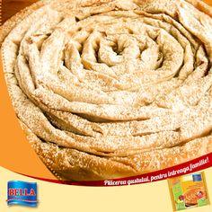 Placinta cu mere de la Bella aduce in bucataria dumneavoastra rapiditate si gust!  Iata un mic truc ce ii poate da mai multa savoare: Dupa ce ati scos-o din cuptor, presarati zahar pudra peste ea si bucurati-va de savoarea si gustul unei placinte ca la bunica!  www.bellafood.ro/placinte-familiale_doc_10_placinta-cu-mere-800g-100g-gratis_pg_0.htm