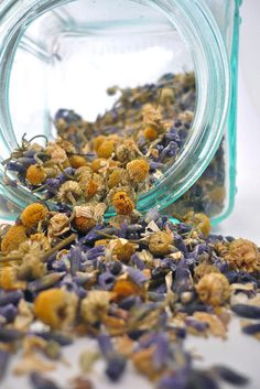 Chamomile Lavender Herbal Tea Blend...would be amazing before bed! I would add Peppermint too :)