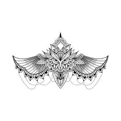 See this and of other temporary tattoo designs. Then test-drive your custom tattoo before committing forever with Momentary Ink featuring Real Teal™. Sternum Tattoo Design, Owl Tattoo Design, Lace Tattoo, Underboob Tattoo, Tattoo Wings, Mini Tattoos, Cute Tattoos, Body Art Tattoos, Sleeve Tattoos