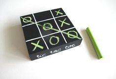 DIY Tic Tac Toe Chalkboard...cute!