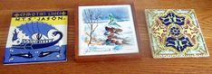 Most up-to-date Snap Shots old Ceramics Tile Ideas Set of 3 hand painted ceramic tiles. Mexico, Greece & wood framed made in Germany 1970 Ceramic Roof Tiles, Clay Roof Tiles, Painting Ceramic Tiles, Hand Painted Ceramics, Porcelain Ceramics, Ceramics Tile, Ceramics Ideas, Love To Shop, Mosaic Glass