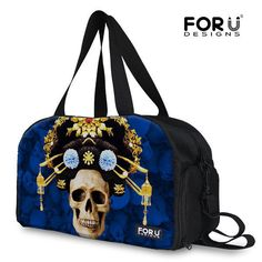 e2b1d9f7f92f For U Designs chinoiserie Skull Large Capacity Travel Luggage Duffle Gym  Bags  FORUDESIGNS  Travelbag