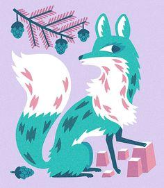 artillustrationgood: SPIRIT FOX (by Till Hafenbrak)