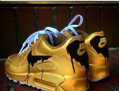Cheap UK Nike Air Max 90 Candy Drip Black Golden Cheap Mens   Womens  Trainers  9d1d52dd3f