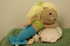 Mermaid Nursery Decor: Crocheted Mermaid Doll