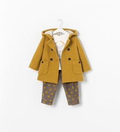 COAT WITH HOOD AND PRINTED LINING - Coats - Baby girl (3 - 36 months) - KIDS | ZARA United States