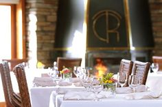 You'll find the lodge's romantic dining room crisply attired in white tablecloths and flickering with candlelight. We pride ourselves on our warm hospitality and discreet service.