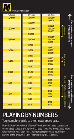 Nikon shutter speed scales: a complete guide.